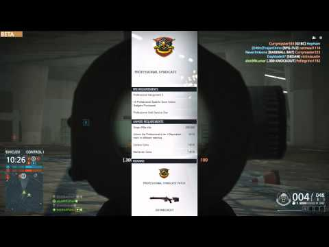 How To Unlock the .300 Knockout Sniper Rifle in Battlefield Hardline [1080p60]