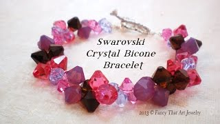 Swarovski Crystal Bicone Bracelet Video Tutorial(, 2013-04-04T20:32:00.000Z)