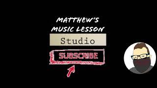 Matthews Music Lesson Studio Channel Intro