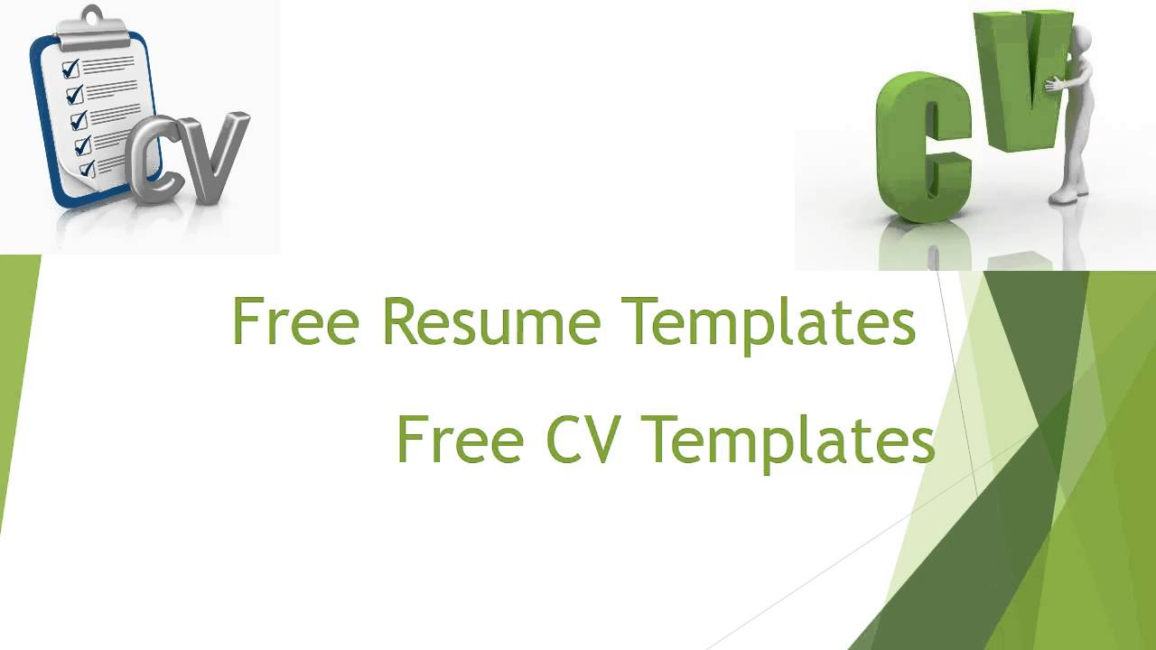 Free Resume Templates YouTube – Free Resumes Templates