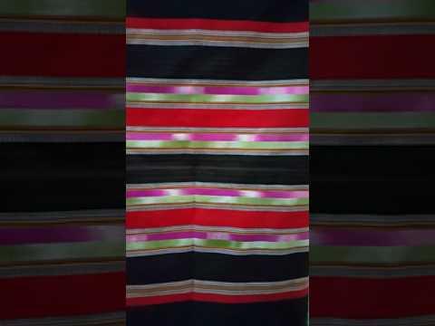 ราคา 390บ. ผ้าซิ่นฝ้ายทอมือแท้ ลายน้ำไหลไหมประดิษฐ์ สีไม่ตก ผ้าไม่หด ลายสวยสดใส ก.168cm.×ย.96cm.