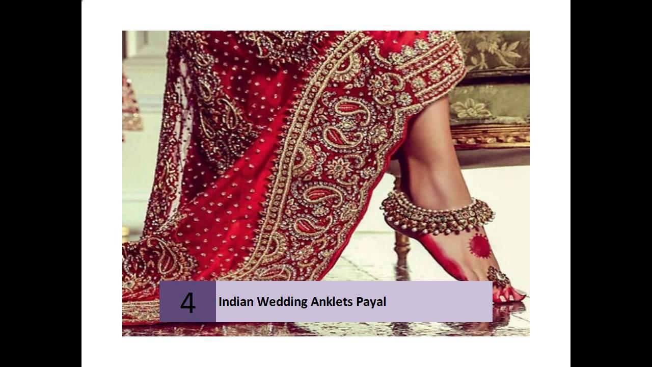 Indian Wedding Anklets Payal - YouTube