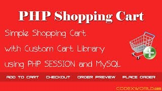 Simple PHP Shopping Cart using SESSION