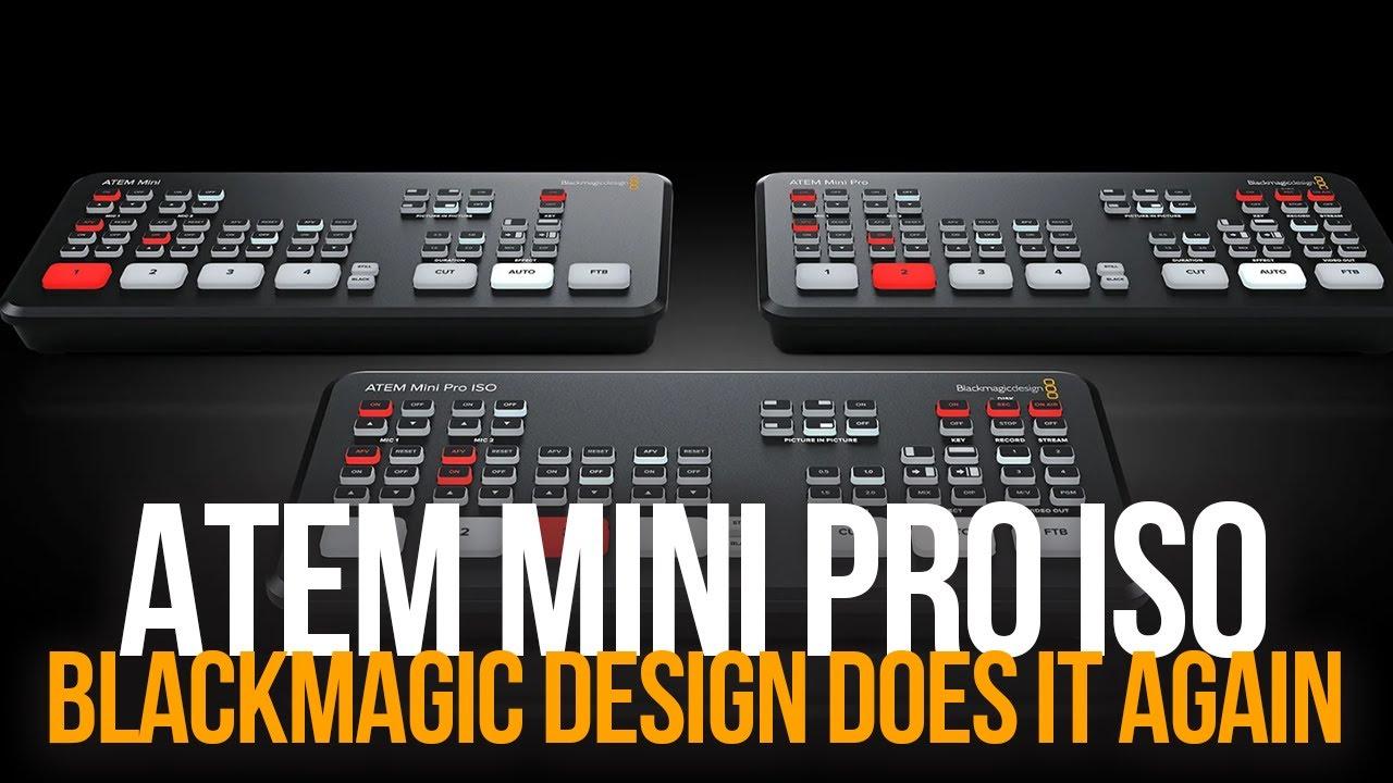 Blackmagic Atem Mini Pro Iso Camera Switcher Bmd Swatemminibpriso Tech Nuggets