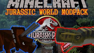 LE MODPACK JURRASSIC WORLD ! - 3 MODS + TEXTURE PACK - MOD Minecraft 1.7.10 [FR] [HD]