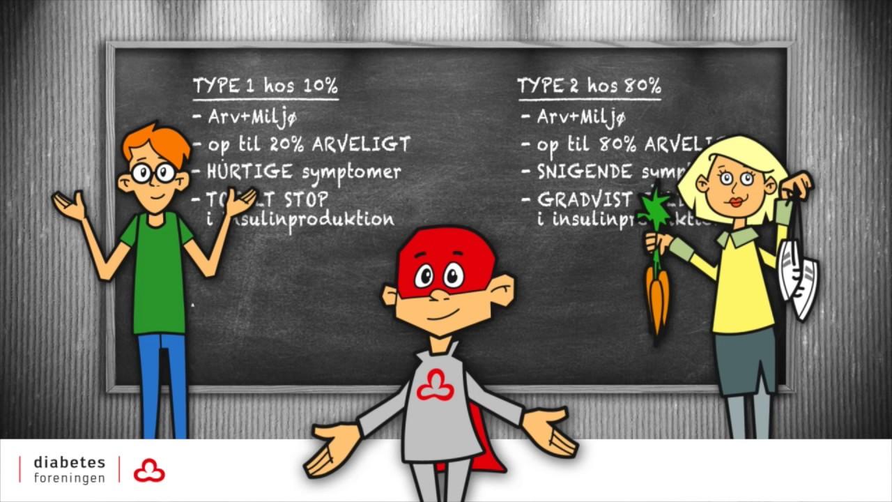 type 1 og 2 diabetes