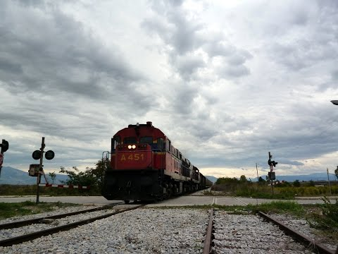 FREIGHT TRAINS AT EAST MACEDONIA 2014