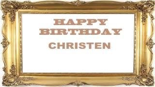 Christen   Birthday Postcards & Postales - Happy Birthday
