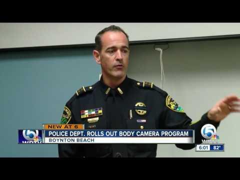 Boynton Beach police unveil body cameras