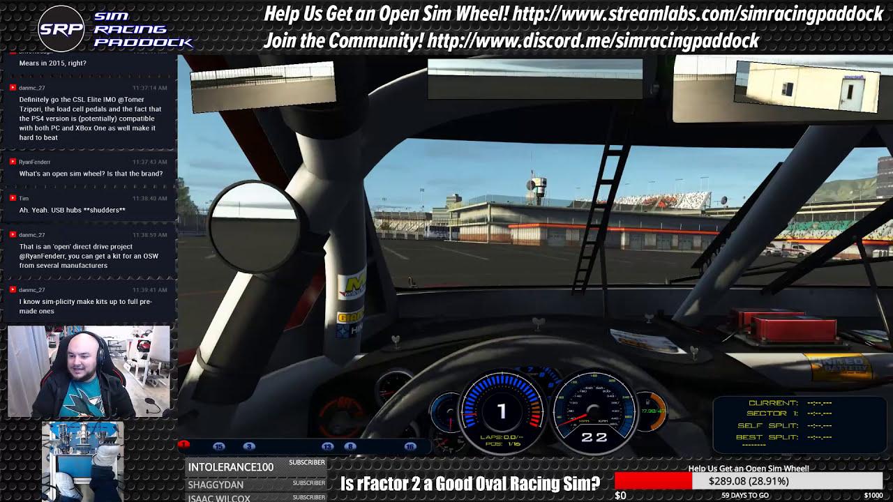 Is Rfactor 2 A Good Oval Racing Sim?  Sim Racing Paddock 01:32:55 HD