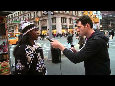 Billy On the Street: Quizzed in the Face with David