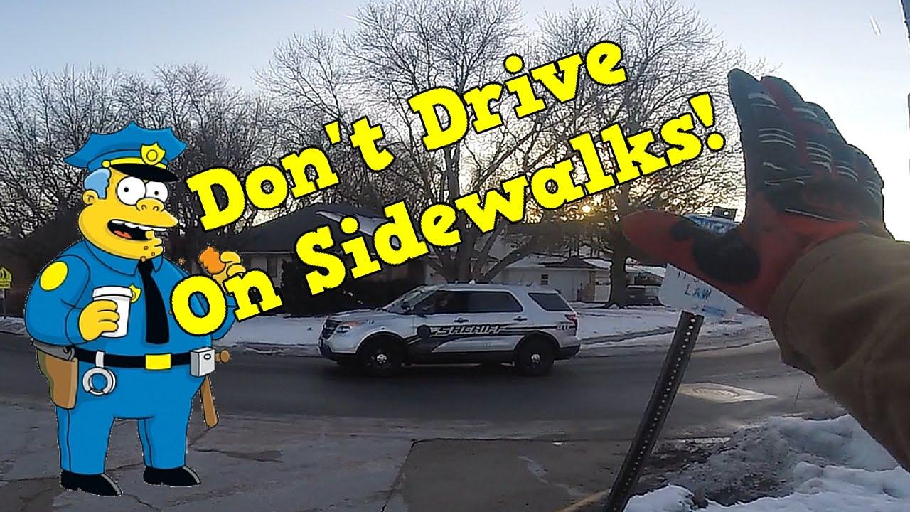 Image result for car driving on sidewalk