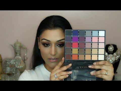 Viseart Grande Pro Vol 1 Palette Review with Swatches on Medium Tan Skin