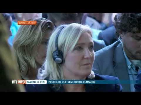 Marine Le Pen, grande vedette d'un colloque du Vlaams Belang