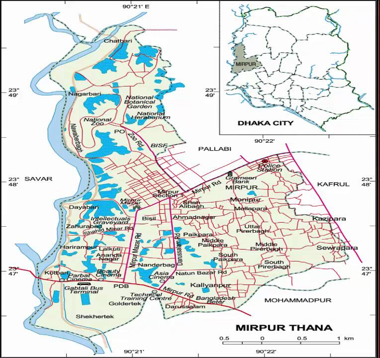 ঢাকার মানচিত্র - Dhaka Maps-dhaka map by road-map of ...