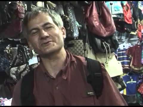 Selling bags in a Beijing Market