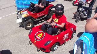 PowerWheels Racing - NIMBY Ferrari Kart FIRE!! (Maker Faire 2013)