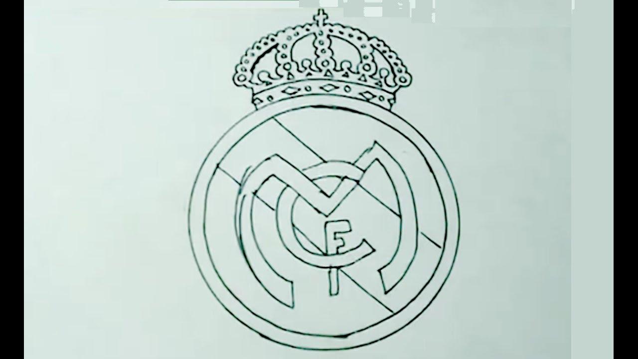 Dibujos Para Colorear Escudo Real Madrid: Aprende A Dibujar Fácil El Escudo Del Real Madrid FC