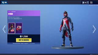 Fortnite Item shop! BRAND NEW VERSA AND ETHER SKIN!