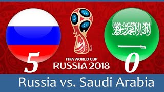 Обзор Матча Россия Саудовская Аравия Чемпионат Мира по Футболу 2018 Сборная России