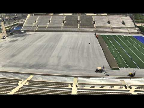 Tulsa Football Field Turf Cool Play Installation