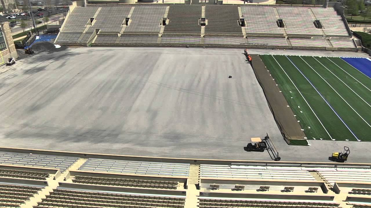 Tulsa Football Field Turf Cool Play Installation Youtube