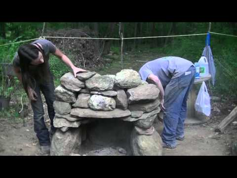 Building a Stone Fire Place - Super Warm Winter Preparations