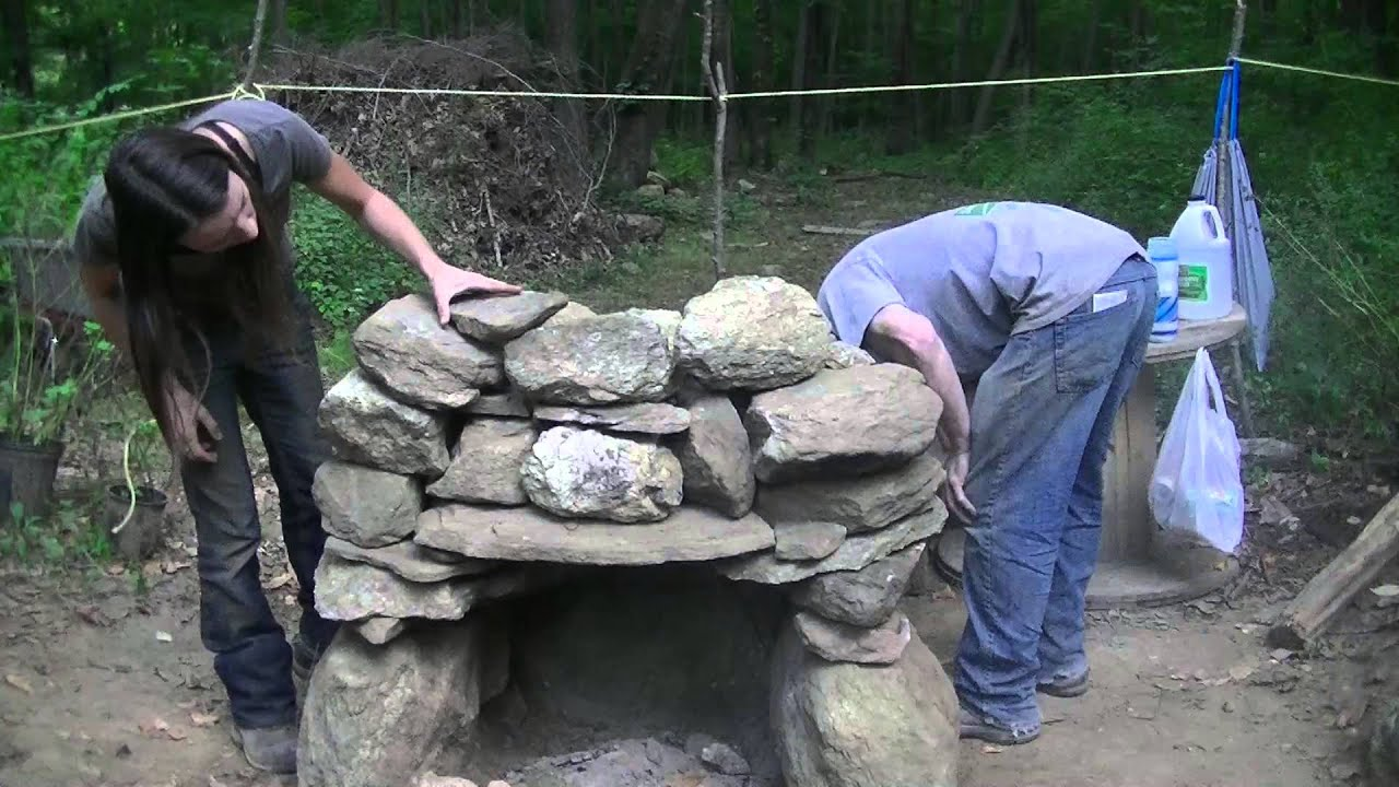 Building A Stone Fire Place Super Warm Winter Preparations Youtube