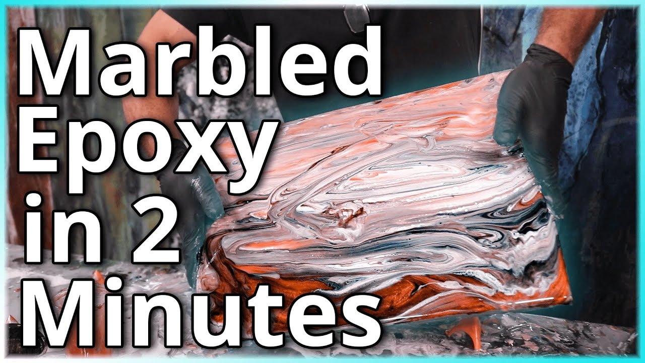 Marbled Epoxy in Under 2 Minutes | Stone Coat Countertops