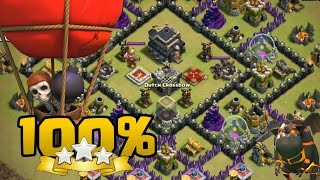 Laloon TH9 vs TH9 100% 3 Estrellas | Clash of Clans