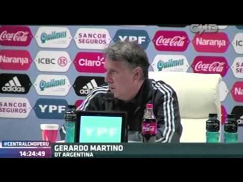 Central CMD: Conferencia de Gerardo Martino (Argentina 0-2 Ecuador)