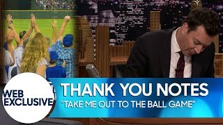 """""""Take Me Out To The Ball Game"""" Thank You Notes (Web Exclusive)"""