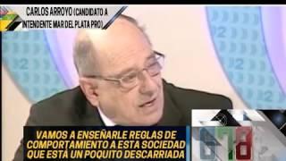 EL CANDIDATO A INTENDENTE DE MARDEL DEL MACRISMO CARLOS ARROYO HOMENAJEA A MICKY VAINILLA - 14-10-15