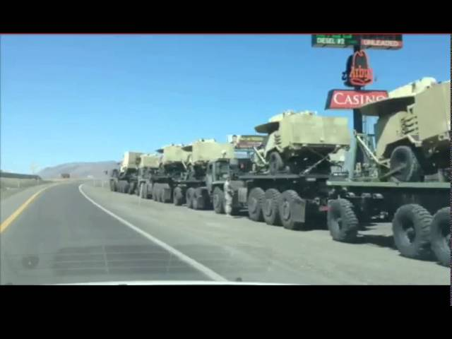 Military Convoy With Microwave Weapons Seen In Jade Helm 15