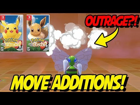 ALL MOVESET ADDITIONS! NEW MOVES in POKEMON LETS GO PIKACHU AND EEVEE!