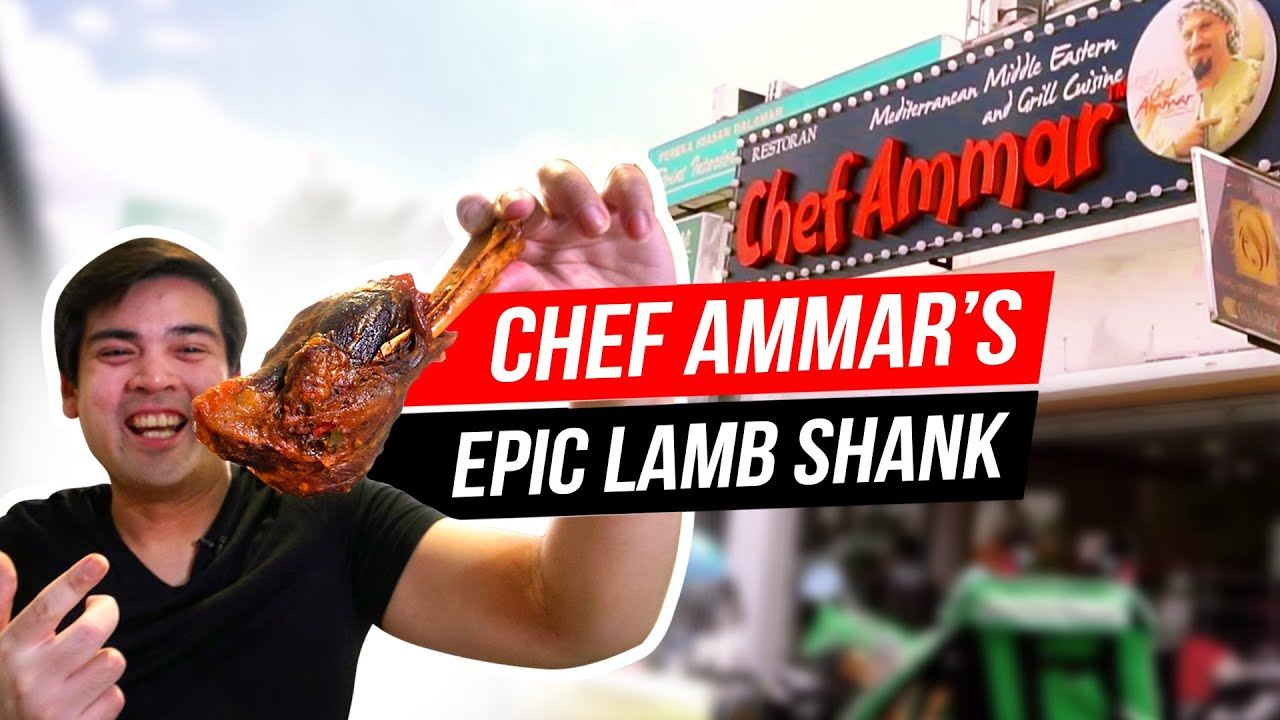 Chef Ammar Awesome King Lamb Shank Middle Eastern Cuisine Youtube