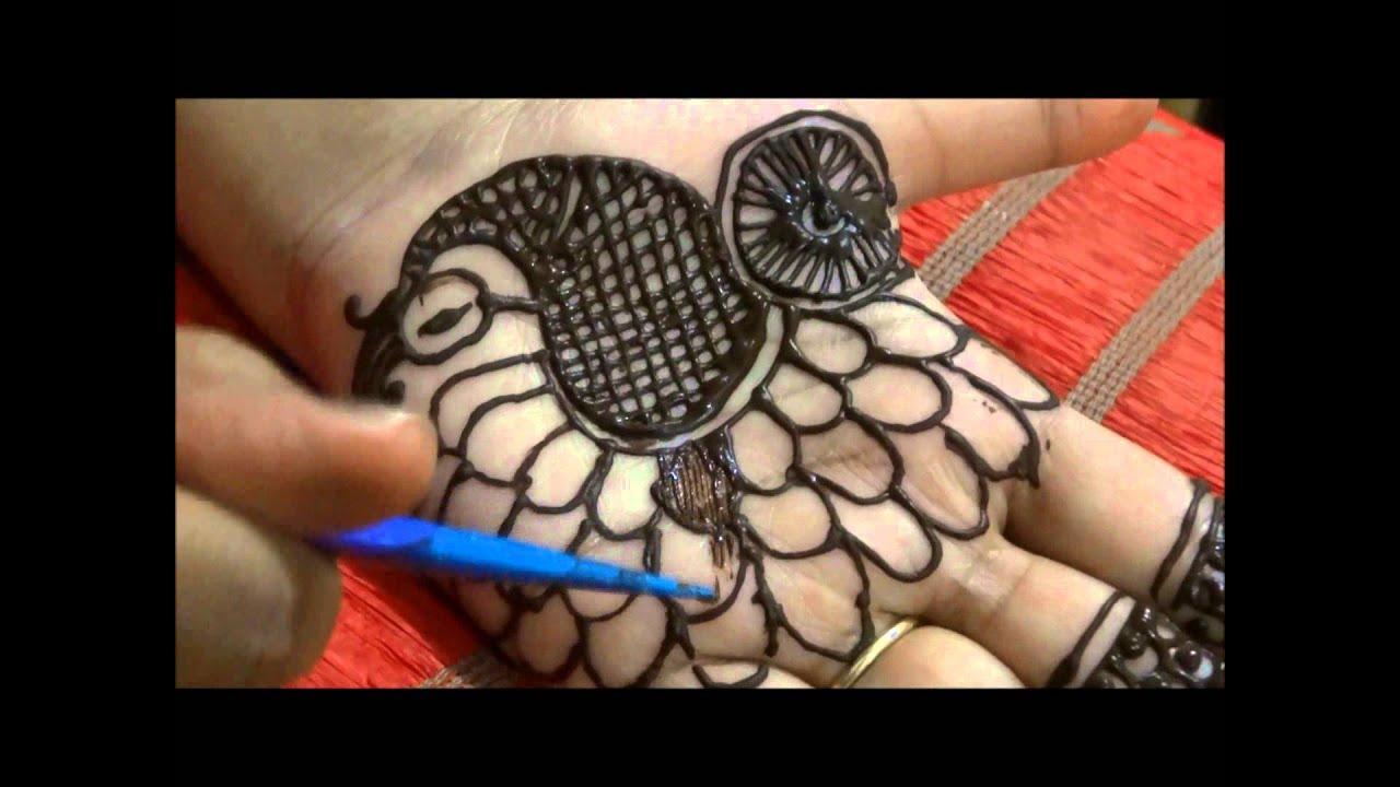 Mehndi design 2017 peacock - How To Make Shaded Peacock Henna Mehndi Design Easy Diy For Beginners Slow Tutorial Youtube