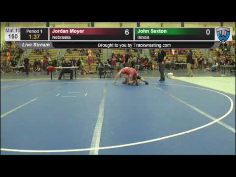 2342 Cadet Men 160 Jordan Moyer Nebraska vs John Sexton Illinois 7863075104