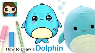 How to Draw a Baby Dolphin Easy | Squishmallows