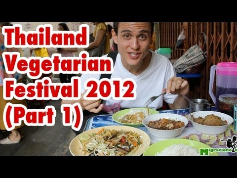 Thailand Vegetarian Food Festival (Part 1) - Bangkok 2012 เทศกาลกินเจ