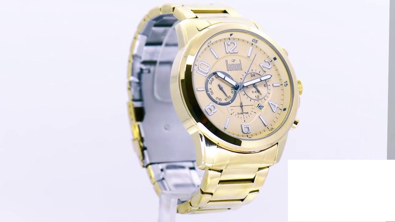 2020a6c0d97 Relógio Dumont Masculino Traveller DUJP25AA 4D - Eclock - YouTube
