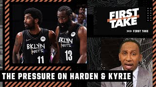 'The pressure is on James Harden and Kyrie Irving!' - Stephen A. talks KD and the Nets