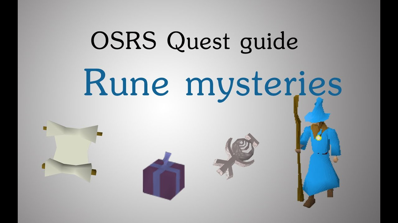 Quest guide: rune mysteries (runescape 2007) | sal's realm of.