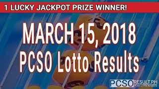 PCSO Lotto Results Today March 15, 2018 (6/49, 6/42, 6D, Swertres, STL & EZ2)