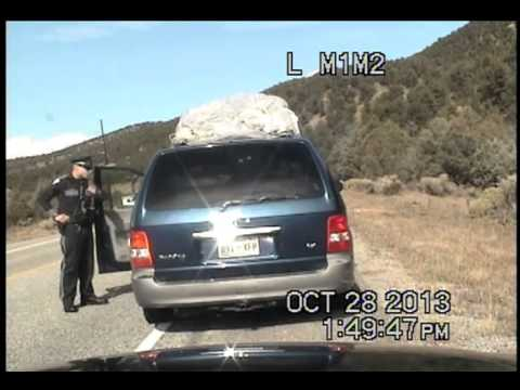 New Mexico state police traffic stop and ensuing chase