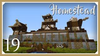 Minecraft Homestead Modpack | Castle Exploration & Yurt! | E19 (Hardcore Survival 1.10.2 Let's Play)