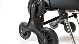 Produktvideo zu Treppensteiger-Einkaufstrolley aus leichtem Aluminium Rolser RD6 Saquet Nylon Rot