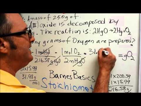 BarnesBasics: Stoichiometry Problem 1c, Mark 1