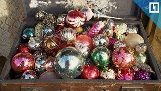 Ёлочные игрушки на блошином рынке