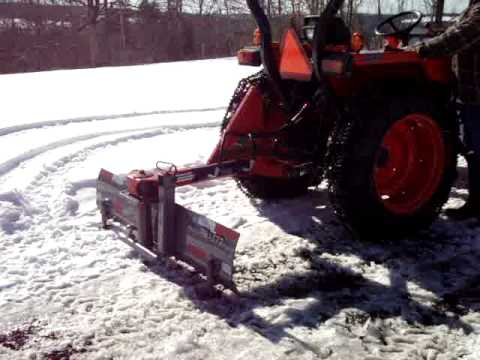 Kubota L With Rear Blade After 3 Point Valve